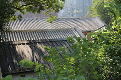 Красный кирпич построил структуру на Гонконге стоковая фотография rf