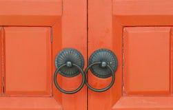 Красный китайский деревянный строб Стоковое Изображение