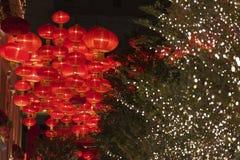 Красный китайский фонарик Стоковое Фото