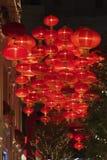 Красный китайский фонарик Стоковая Фотография