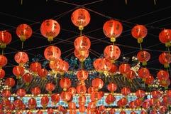 Красный китайский шарик Стоковое Изображение