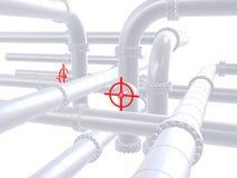 красный клапан иллюстрация штока