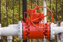 красный клапан Стоковые Изображения RF