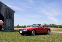 Красный классицистический автомобиль спортов Стоковое фото RF
