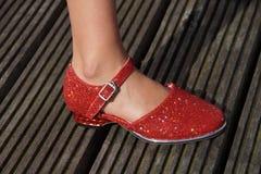 Красный классический ботинок танцев Стоковые Изображения