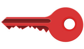 Красный ключ стоковая фотография