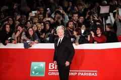 Красный ковер Дэвид Линч - двенадцатый фестиваль фильма Рима Стоковое Изображение