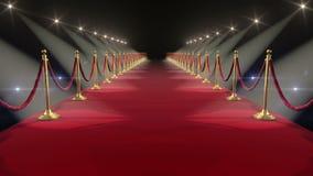 Красный ковер Закрепленная петлей анимация HD 1080 иллюстрация вектора