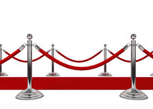 Красный ковер Стоковые Изображения
