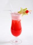 Красный коктеил и биллиард Стоковые Фотографии RF
