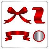 Красный комплект собрания ярлыка бирки границы Стоковые Изображения RF