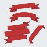 Красный комплект ленты, плоский дизайн Стоковые Изображения