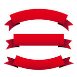 Красный комплект ленты бесплатная иллюстрация