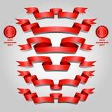 красный комплект тесемки Стоковая Фотография