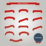 красный комплект тесемки Стоковое Фото