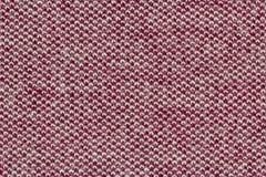 Красный конец крайности хлопко-бумажной ткани вверх по текстуре Стоковые Фото