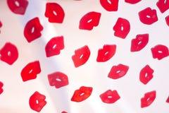 Красный конспект губной помады губ Стоковые Фотографии RF