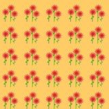 Красный конспект цветков Стоковое фото RF