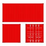 Красный контейнер для перевозок бесплатная иллюстрация