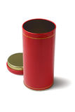 Красный контейнер металла Стоковое Изображение