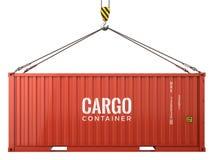 Красный контейнер для перевозок перевозки груза изолированный на белой предпосылке бесплатная иллюстрация
