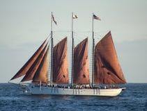 красный корабль высокорослый стоковые фото