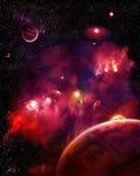 красный космос Стоковые Изображения