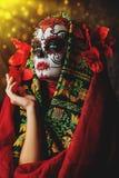 Красный костюм на хеллоуин стоковое фото rf
