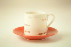 Красный кофе чашки Стоковые Изображения RF