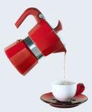 Красный кофе Стоковые Изображения RF