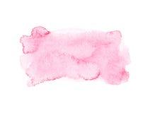Красный красочный абстрактный watercolour притяжки руки Стоковое фото RF