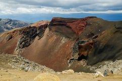 Красный кратер, национальный парк Tongariro Стоковые Изображения