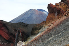 Красный кратер Стоковая Фотография