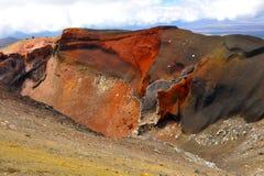 Красный кратер Стоковое Изображение RF