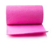 Красный крен бумажного полотенца высек на белой предпосылке Стоковые Фотографии RF