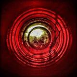 КРАСНЫЙ КРУГ Справочная информация абстракция Futage Стоковое Изображение RF