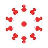 Красный круг штыря Стоковые Изображения