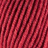 Красный крупный план макроса шарика потока шерстей Стоковое Изображение