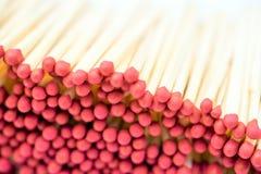 Красный крупный план Matchsticks Стоковая Фотография RF