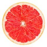 Красный кусок грейпфрута, путь клиппирования Стоковая Фотография RF