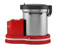 Красный кухонный комбайн изолированный на белизне Стоковые Изображения RF