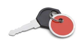 Красный ключ бирки Стоковая Фотография