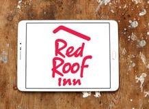 Красный логотип гостиницы крыши Стоковые Изображения