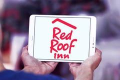 Красный логотип гостиницы крыши Стоковые Фото
