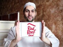Красный логотип гостиницы крыши Стоковое Фото