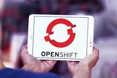 Красный логотип платформы OpenShift шляпы Стоковые Фото