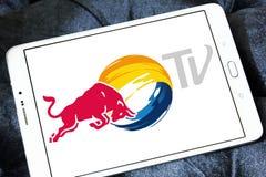 Красный логотип ТВ Bull Стоковые Изображения RF