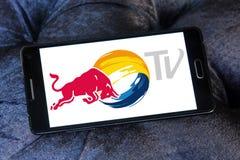 Красный логотип ТВ Bull Стоковое Изображение RF