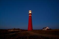 Красный маяк в ноче Стоковые Фотографии RF