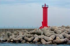 Красный маяк стоковые фото